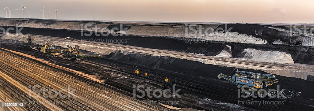 Panorama - Opencast mining in germany stock photo