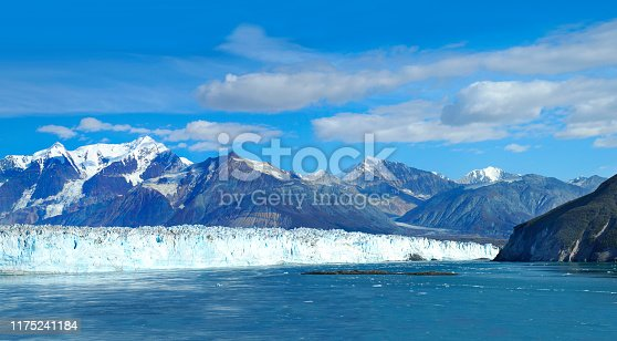 istock Panorama or the Dawes Glacier in Alaska as Seen from a Cruise Ship 1175241184