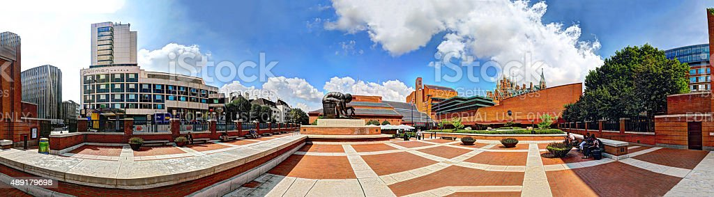 Panorama outside the British Library stock photo