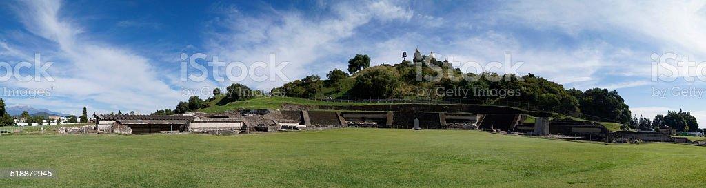 Panorama, vista panorámica del paisaje, Pyramid - foto de stock