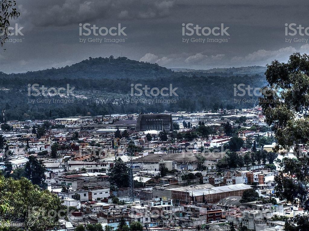 Panorama, vista panorámica a la ciudad, las ciudades, México - foto de stock
