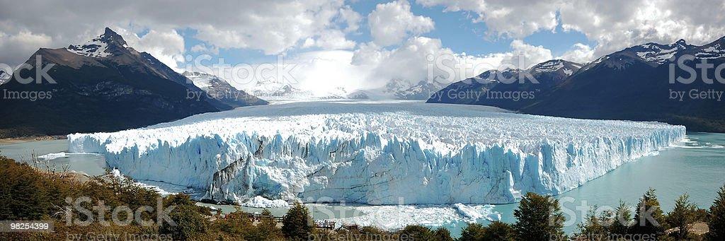 Panorama Perito Moreno, Patagonia royalty-free stock photo