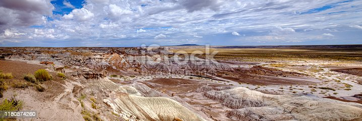 Panorama - Nature's palette and artistry on display at Petrified Forest National Park, Arizona