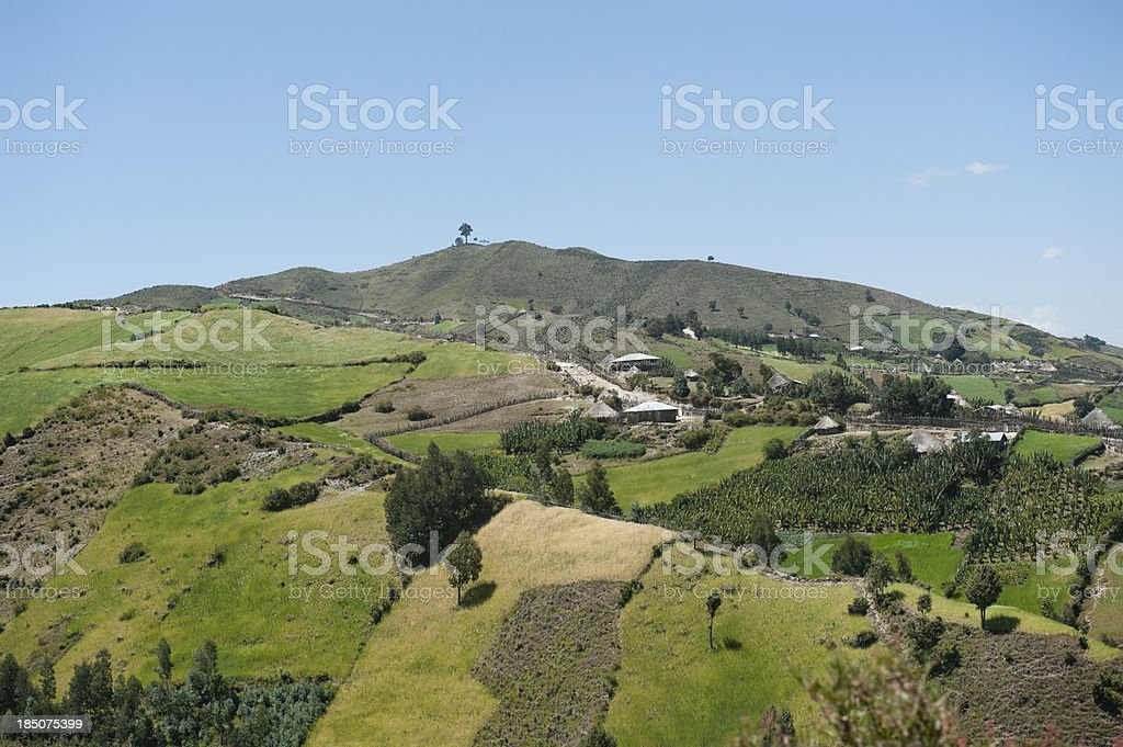 panorama photo of an african landscape royalty-free stock photo
