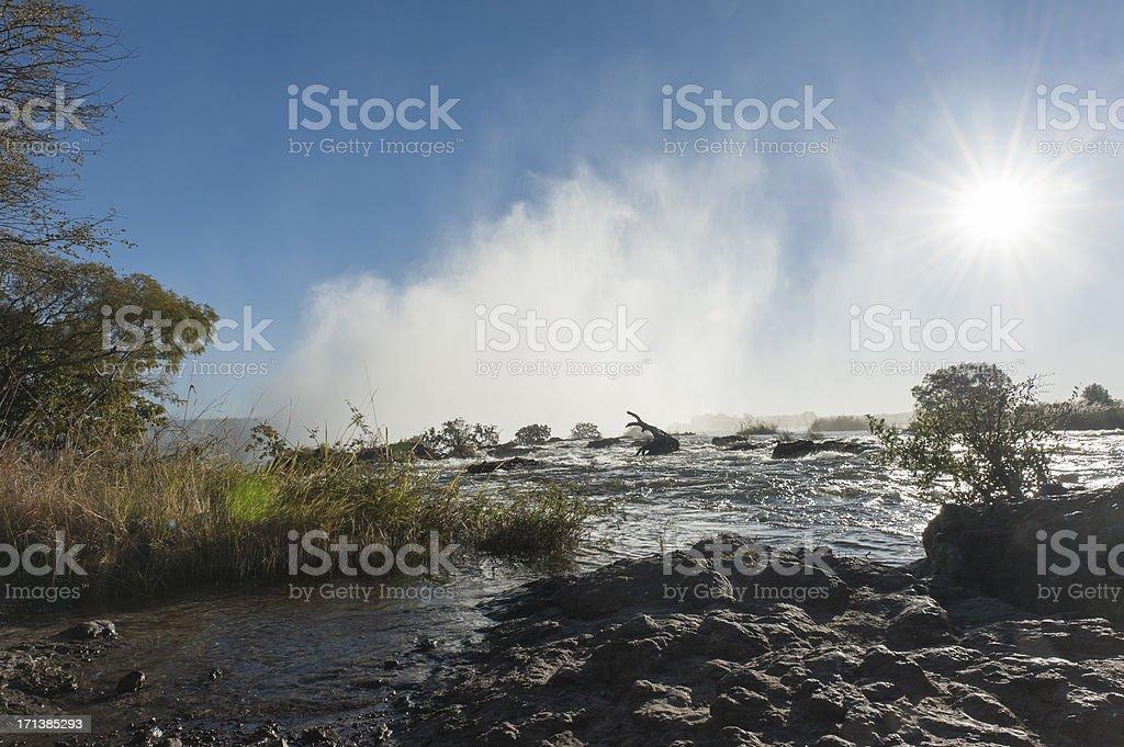 panorama photo of the zambezi river, victoria falls royalty-free stock photo