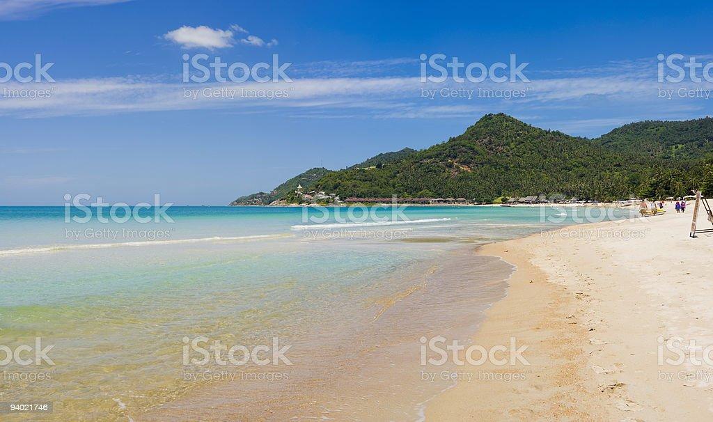 panorama pic - koh samui in thailand stock photo