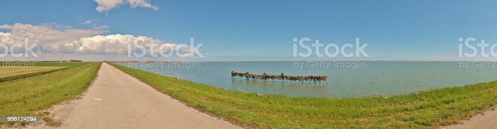 Panorama picture of Scardovari bay in the nature reserve Delta del Po...