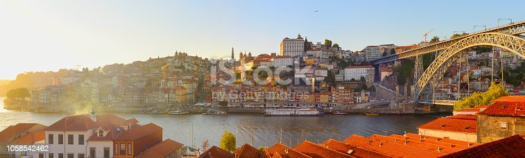 istock Panorama  Porto Old Town, Portugal 1058542462