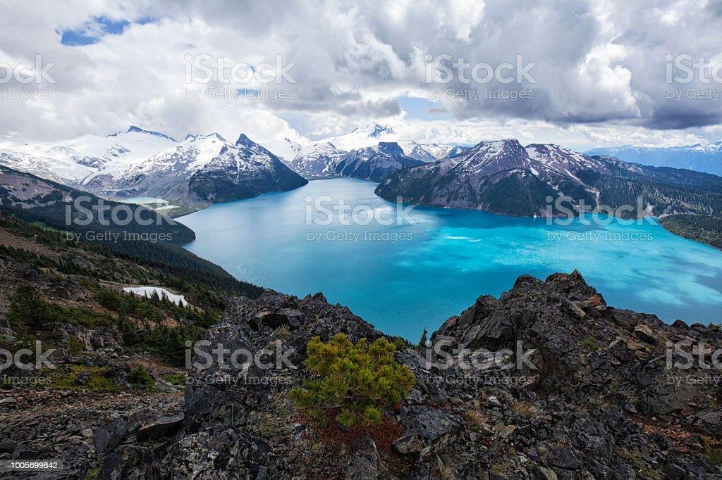 Panorama Ridge in summer, BC, Canada stock photo
