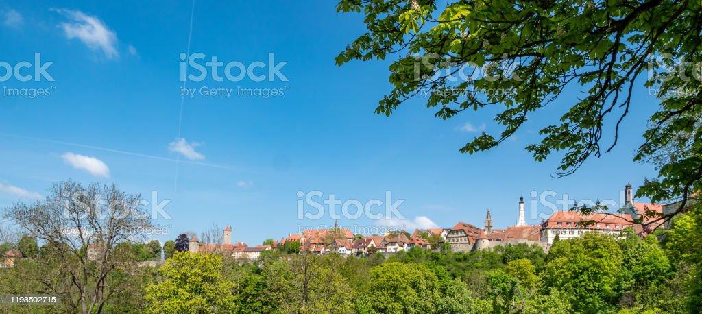 Panorama Rothenburg ob der Tauber - Royalty-free Beieren Stockfoto