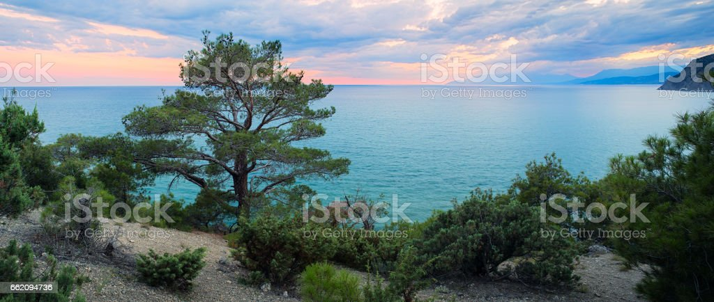 Panorama sea background Crimea Russia royalty-free stock photo