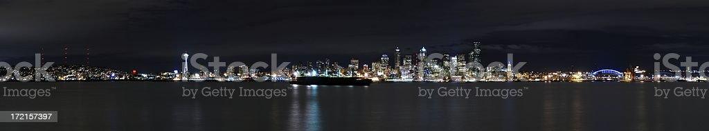 Panorama - Seattle, Washington royalty-free stock photo