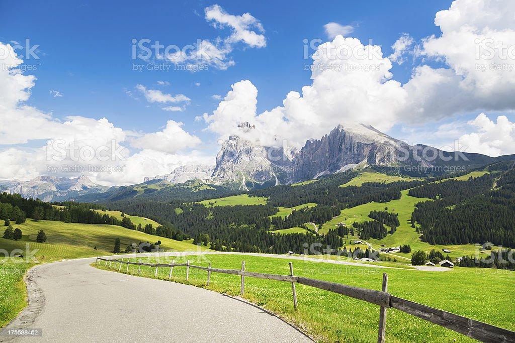 Panorama Shot Alto Adige, Italy stock photo