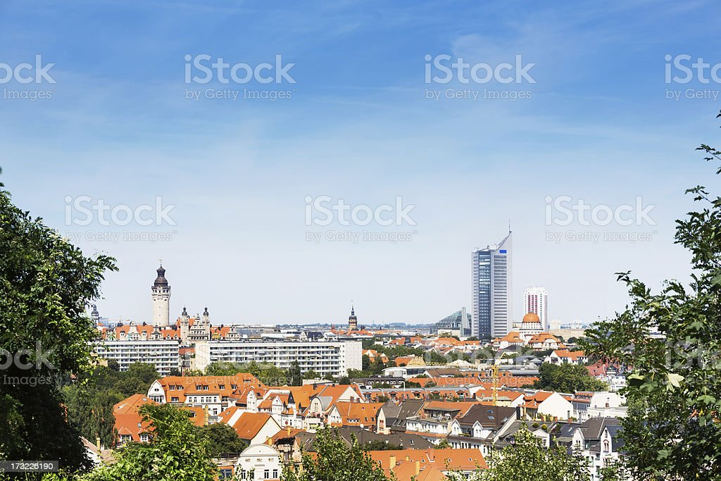 Panorama Shot Leipzig, Germany stock photo