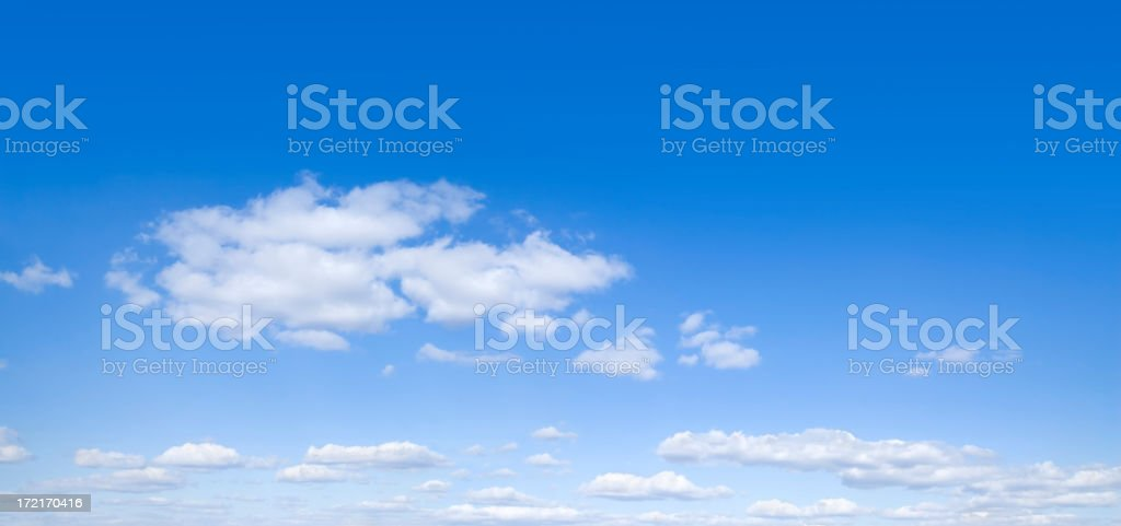 A panorama shot of a sky with some clouds royalty-free stock photo