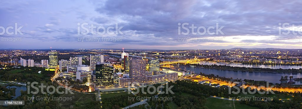 Panorama /  Skyline of Donau City Vienna stock photo