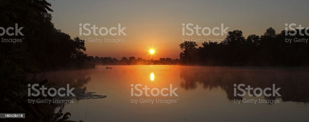 panorama sunrise royalty-free stock photo