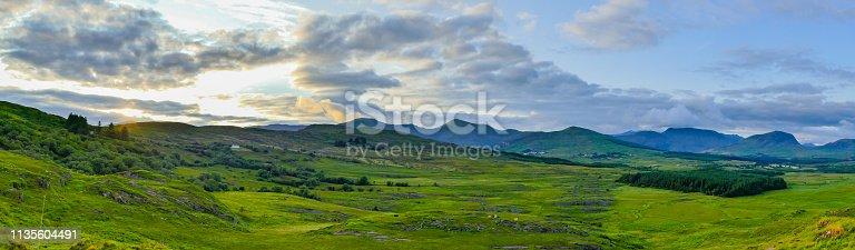 istock Panorama Sunset over Landscape Ireland 1135604491