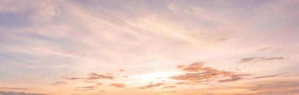 panorama zachód słońca niebo tło - zmrok zdjęcia i obrazy z banku zdjęć