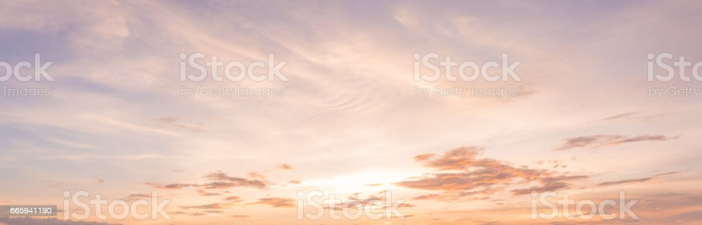 panorama sunset sky background stock photo