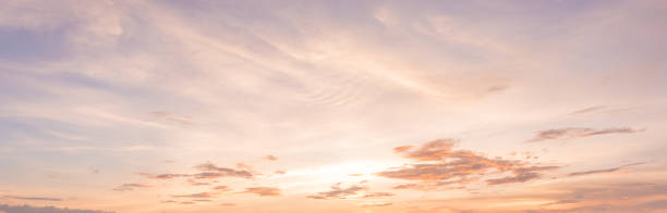 panorama sunset sky background - skies stock photos and pictures