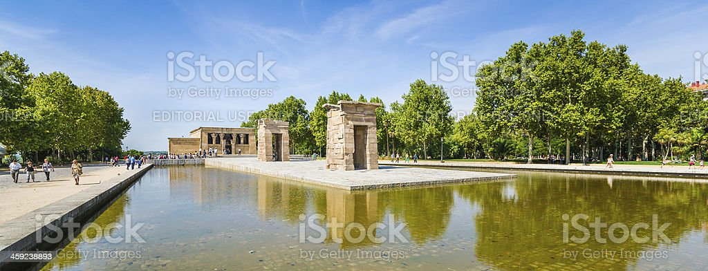 Panorama Temple of Debod in Madrid, Spain stock photo