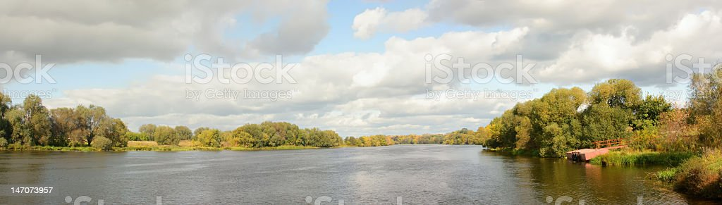 Panorama the river royalty-free stock photo