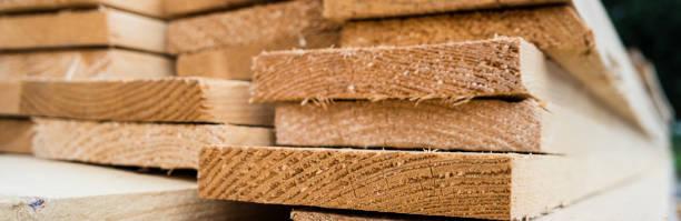 Panorama Holz für die Baustelle – Foto