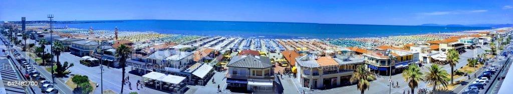 panorama viareggio beach stock photo