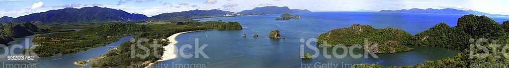 Panorama View Border Malaysia-Thailand stock photo