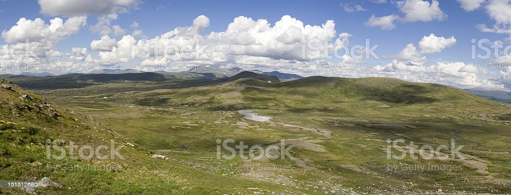 Panorama view from Helags glacier royalty-free stock photo