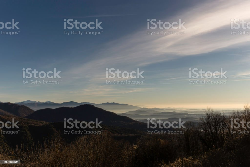 panorama view from Sacro Monte, Varese stock photo