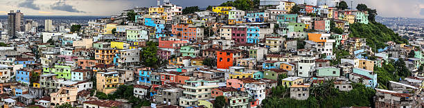 Panorama view from Santa Ana hill, Guayaquil, Ecuador – Foto