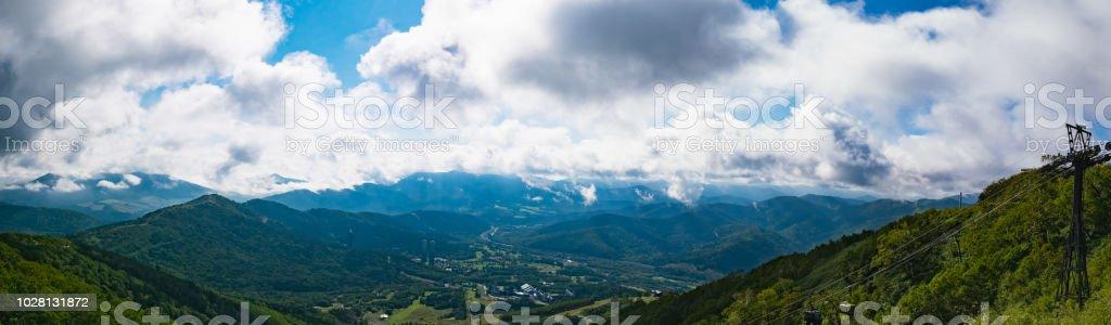 Vista Panorámica Desde La Terraza De Unkai En Tomamu En