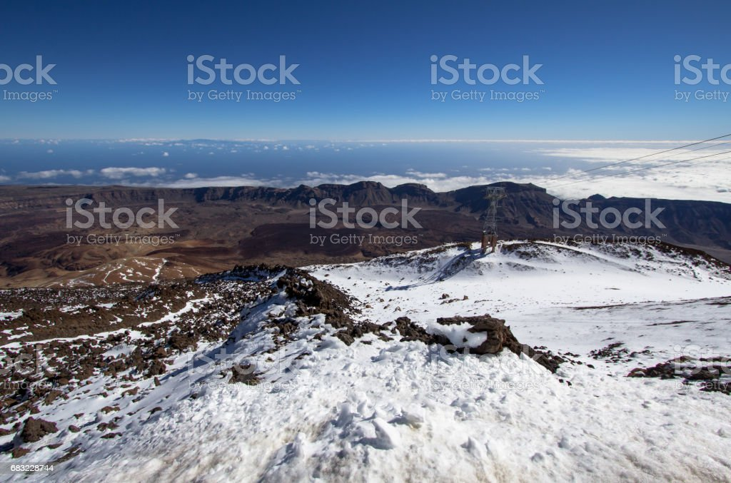 Panorama view from volcano Teide on Tenerife, Spain foto de stock royalty-free