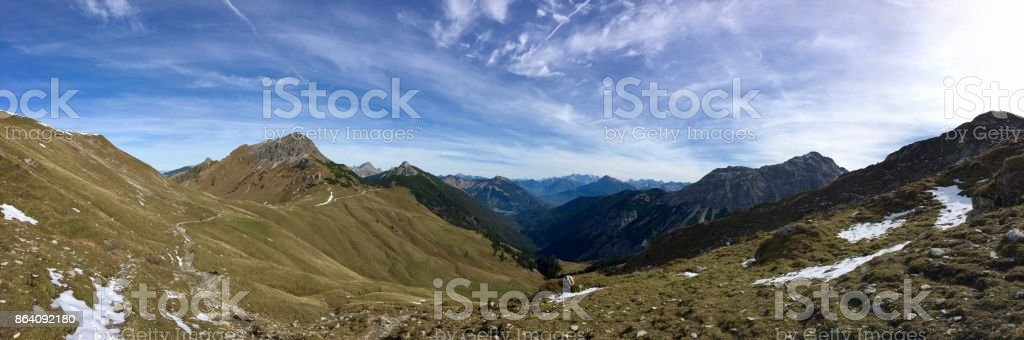 Panorama view of Austrian Alps royalty-free stock photo