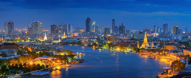 istock Panorama view of bangkok 538331290