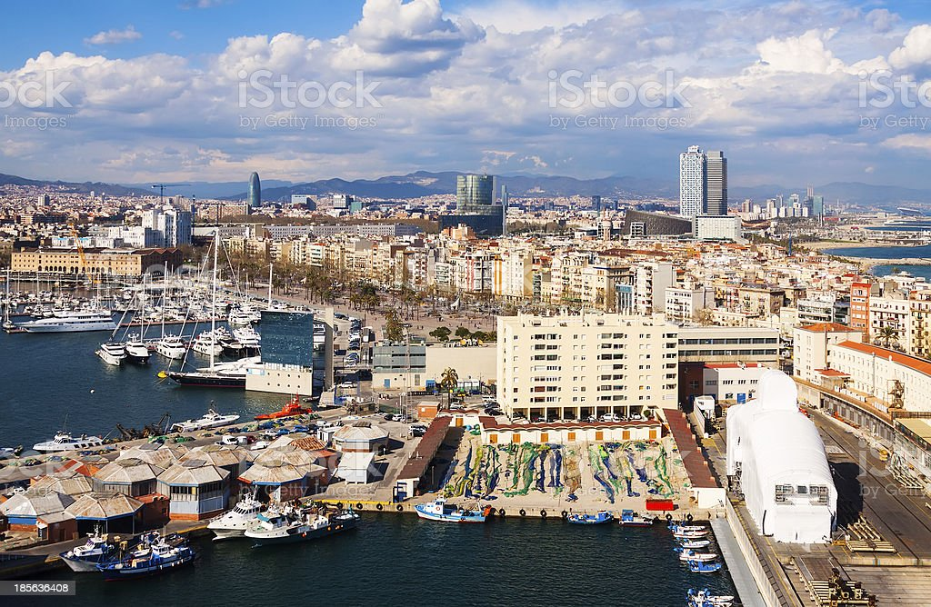 Panorama view of Barcelona royalty-free stock photo