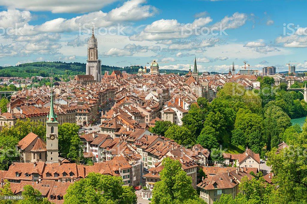 Panorama view of Berne, Swiss royalty-free stock photo