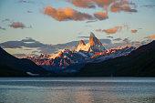 Fitz Roy Mountain in Glacier National Park, El Chalten, Argentina