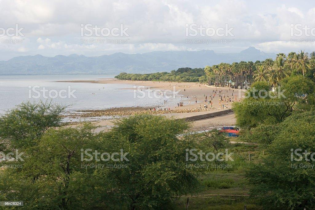 Panorama view of Lasiana beach, West Timor royalty-free stock photo