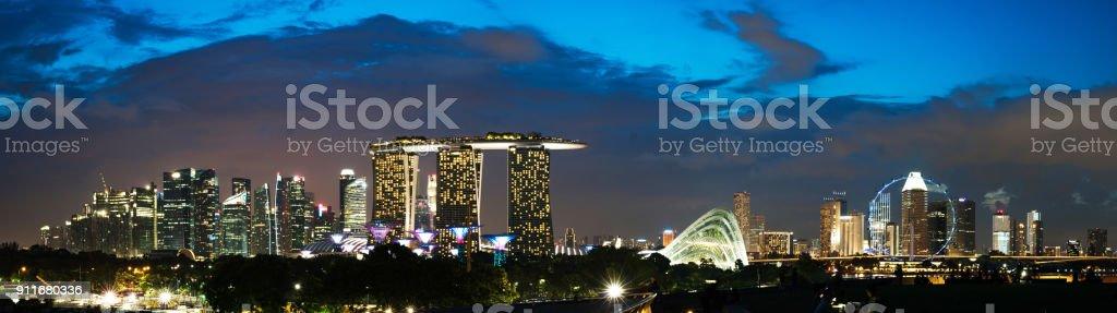 Panoramablick auf Singapur Geschäftsviertel und Stadt in Singapur, Asien. – Foto