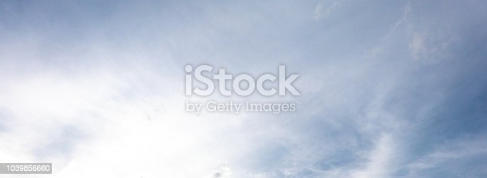 917116520 istock photo panorama view of sky background with blue white cloud light bright clean clear 1039856660