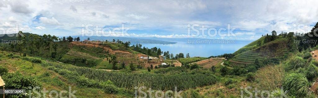 Panorama view of Sumatera Utara, Indonesia. photo libre de droits