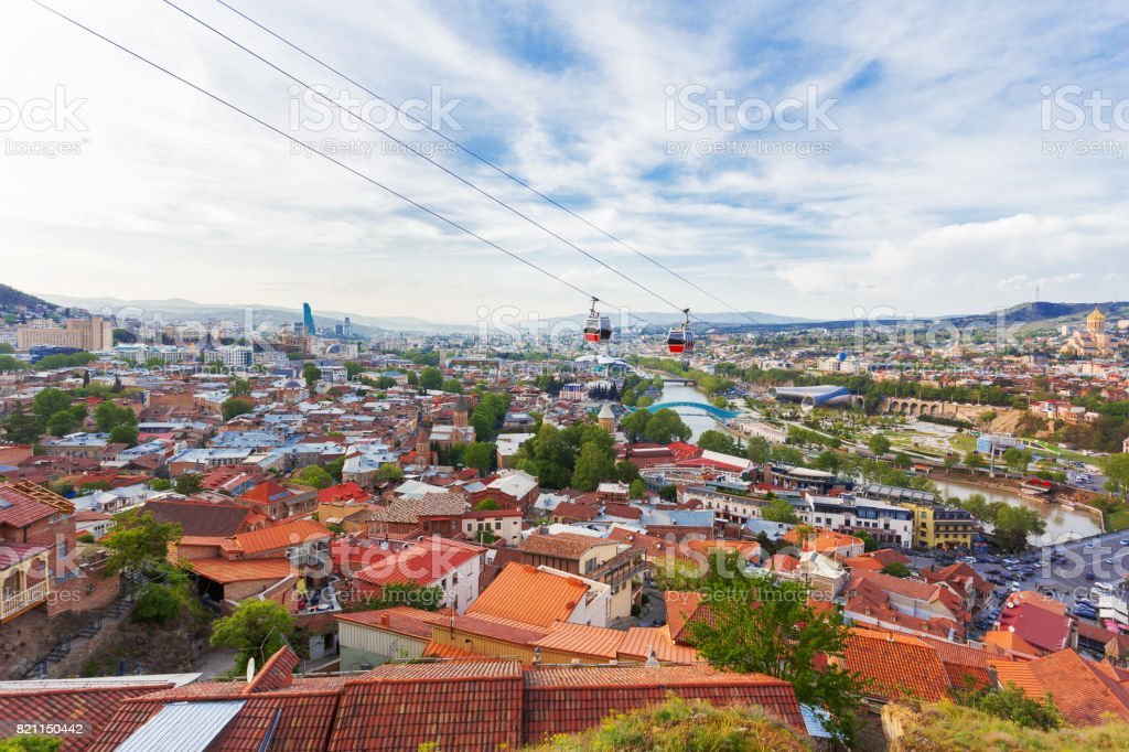 Panorama view of Tbilisi, capital of Georgia country. View from...