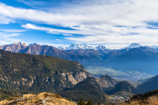 Panorama view of the Alps from Belalp