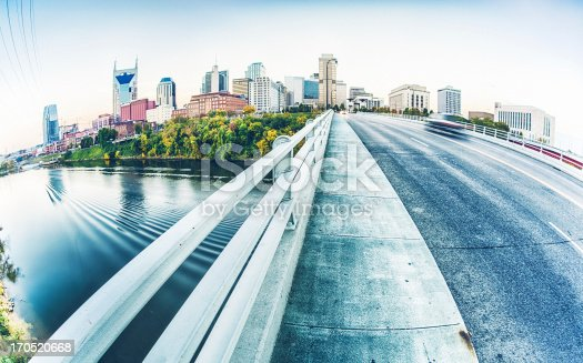 istock Panorama view of the road to Nashville in Tennessee 170520668
