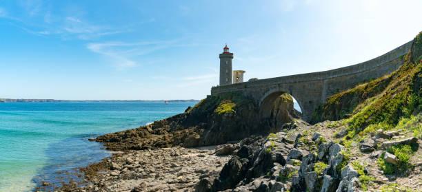 Panoramablick auf den Leuchtturm Petit Minou an der Bretagne – Foto