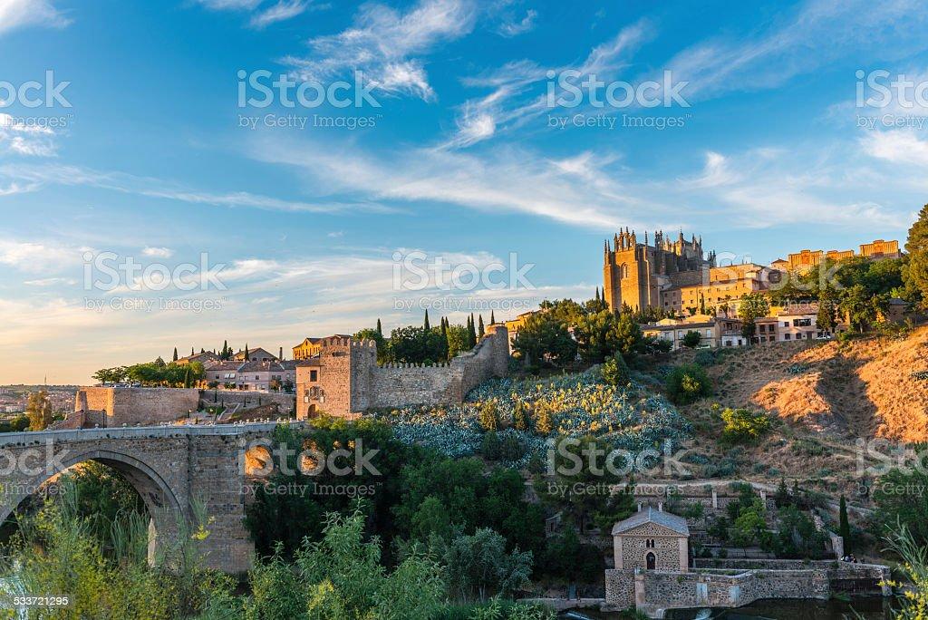 Panorama view of Toledo in Spain stock photo
