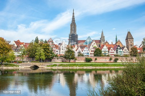 istock Panorama view of Ulm city center, Germany 1057591152